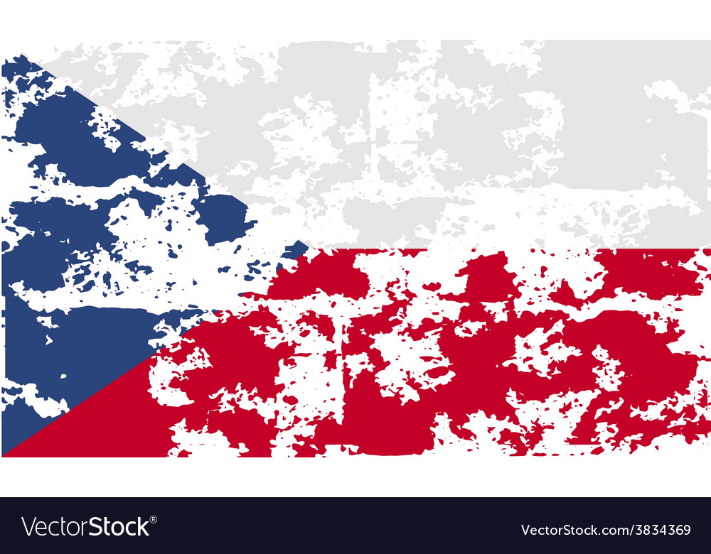 Flag of czech republic with old texture vector | Price: 1 Credit (USD $1)