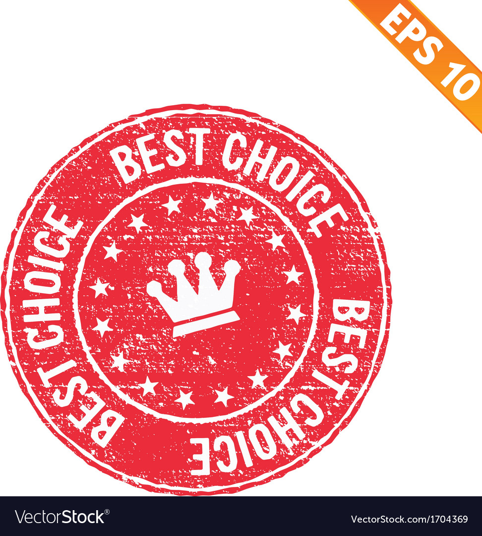 Grunge best choice guarantee rubber stamp - vector | Price: 1 Credit (USD $1)