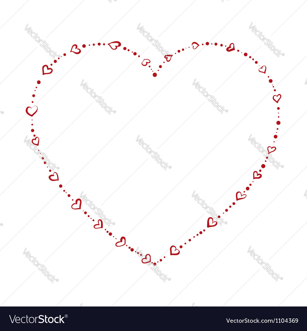 Heart shaped beads vector | Price: 1 Credit (USD $1)