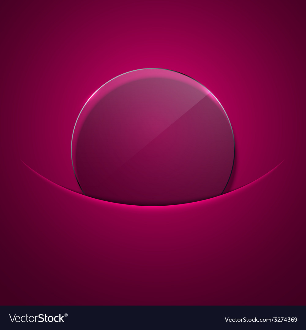 Modern circle glass background vector | Price: 1 Credit (USD $1)