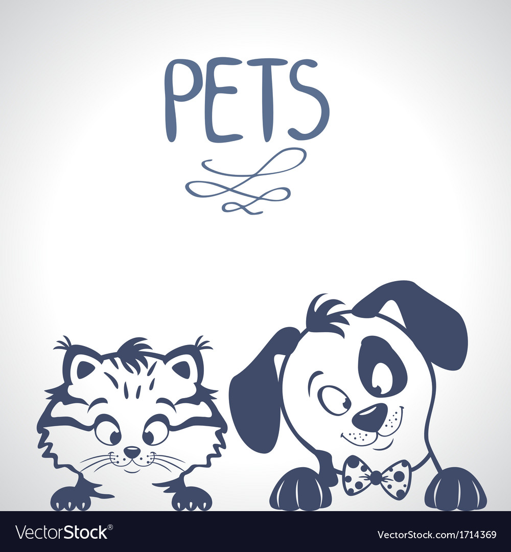 Pets silhouette vector | Price: 1 Credit (USD $1)
