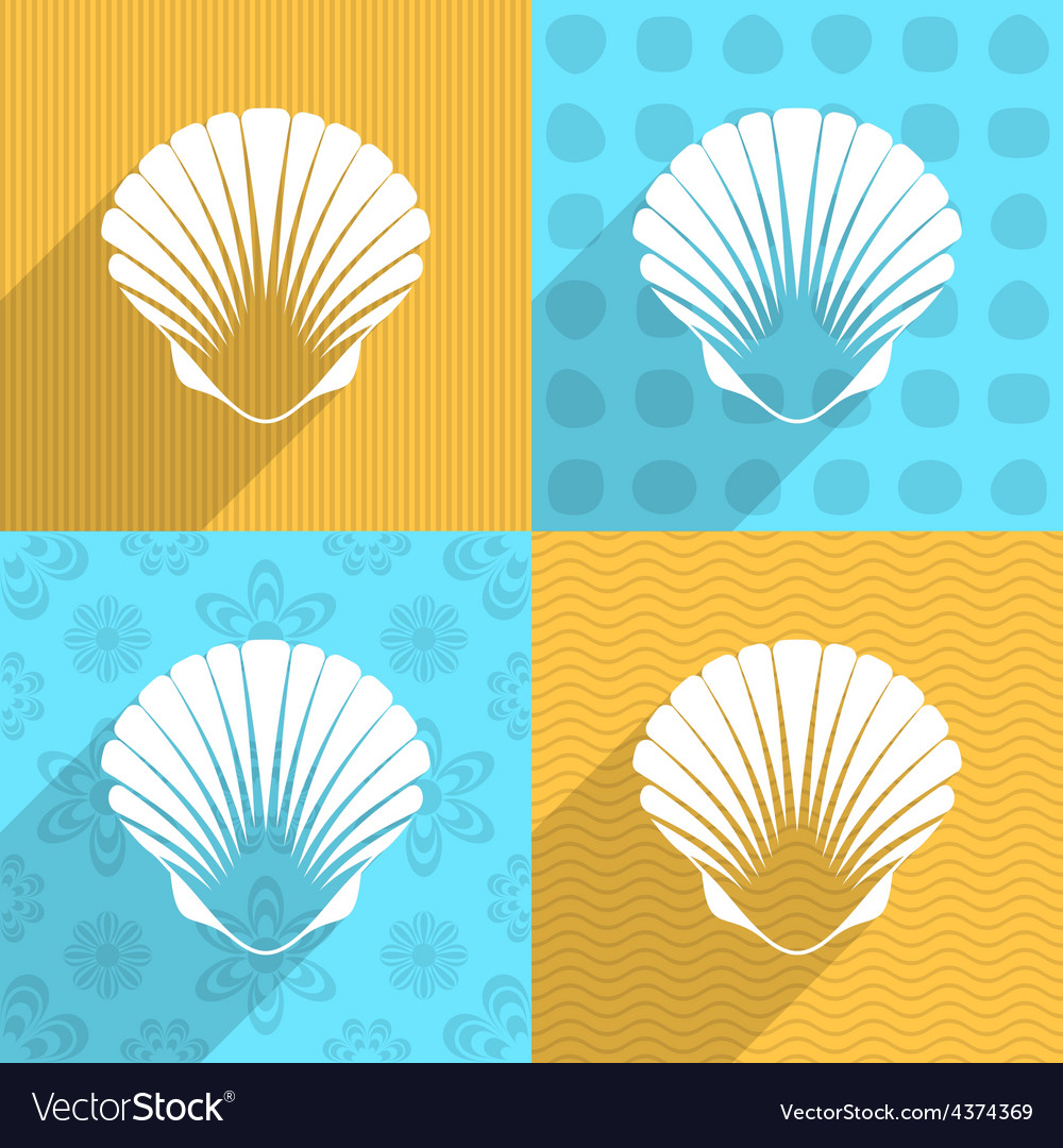 Scallop seashell icon vector | Price: 1 Credit (USD $1)