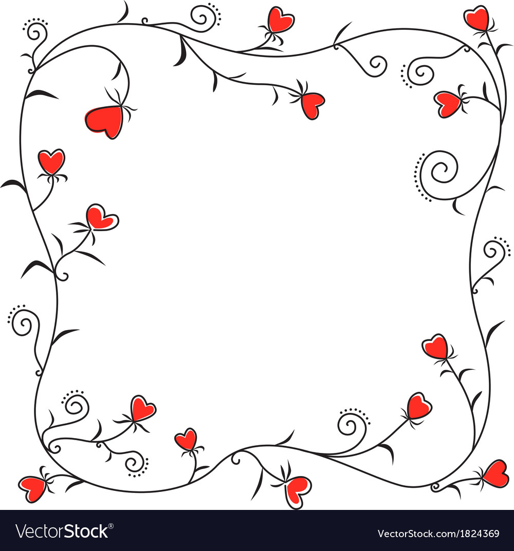 Valentine heart border vector | Price: 1 Credit (USD $1)