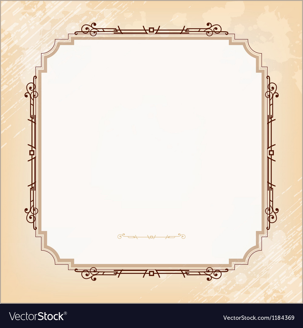 Vintage imperial frame grunge background vector | Price: 1 Credit (USD $1)