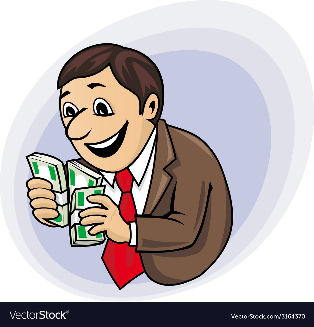 Businessman with money vector | Price: 1 Credit (USD $1)