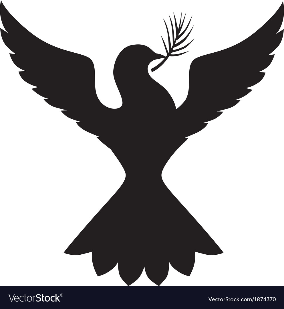 Dove silhouette vector | Price: 1 Credit (USD $1)