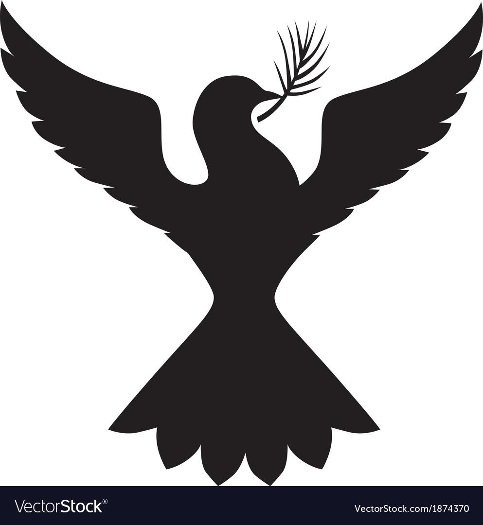 Dove silhouette vector | Price: 1 Credit (USD $1)