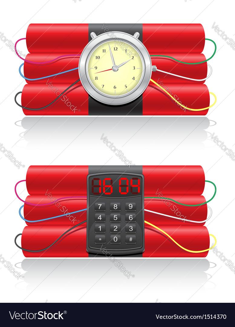 Explosive dynamite and clockwork vector | Price: 1 Credit (USD $1)