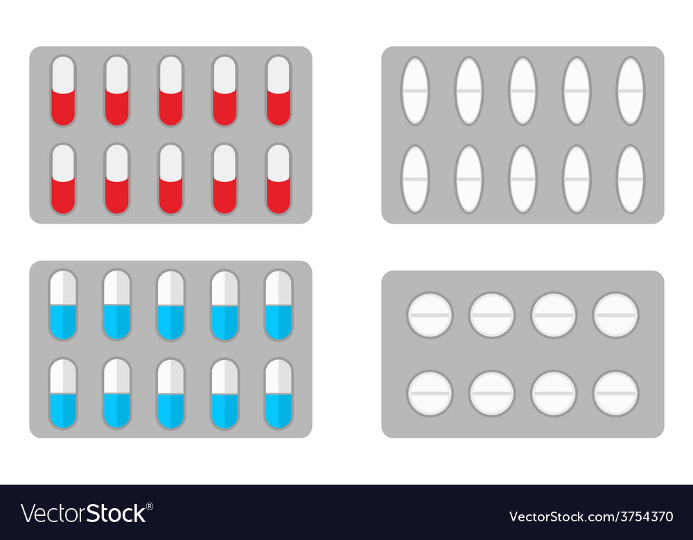 Packs of pills vector | Price: 1 Credit (USD $1)