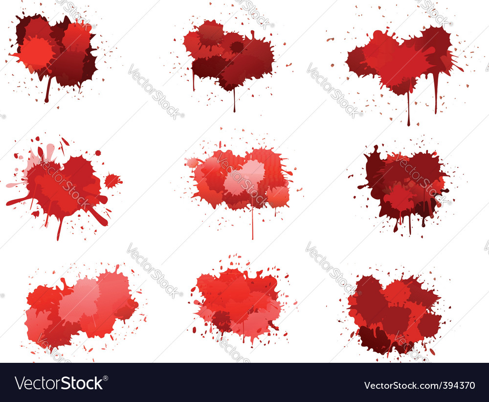 Red ink blobs vector | Price: 1 Credit (USD $1)