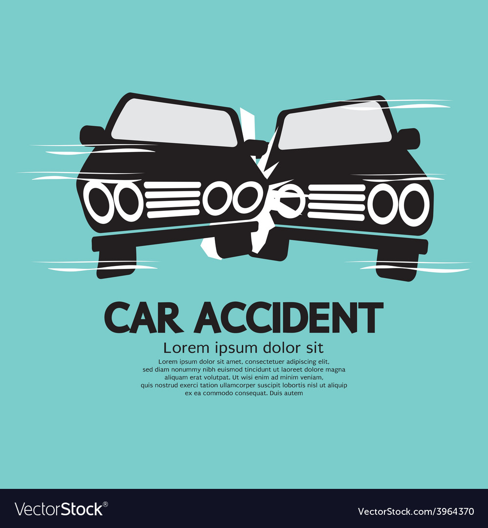 Two cars in an accident vector | Price: 1 Credit (USD $1)