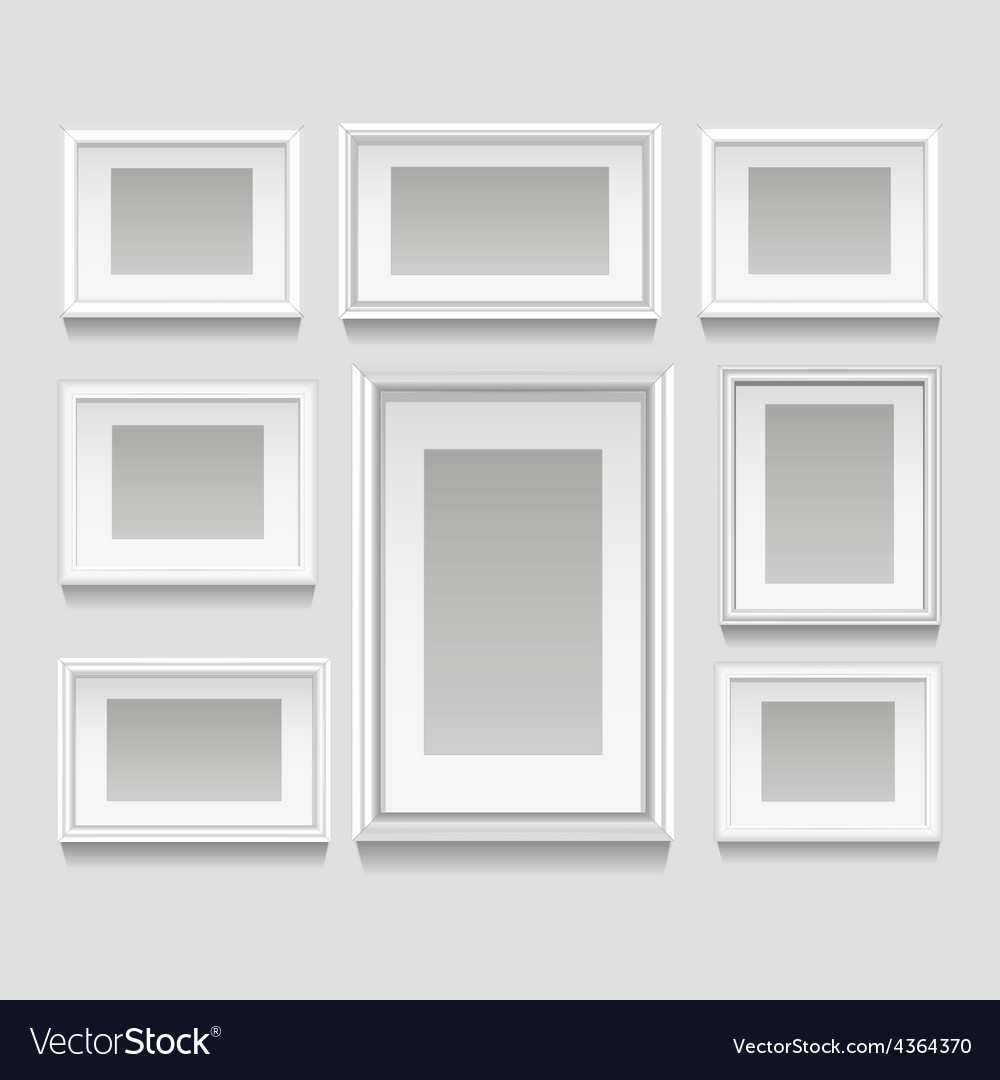 White frames set vector
