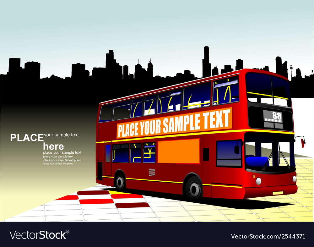 Al 1003 city bus 01 vector | Price: 1 Credit (USD $1)