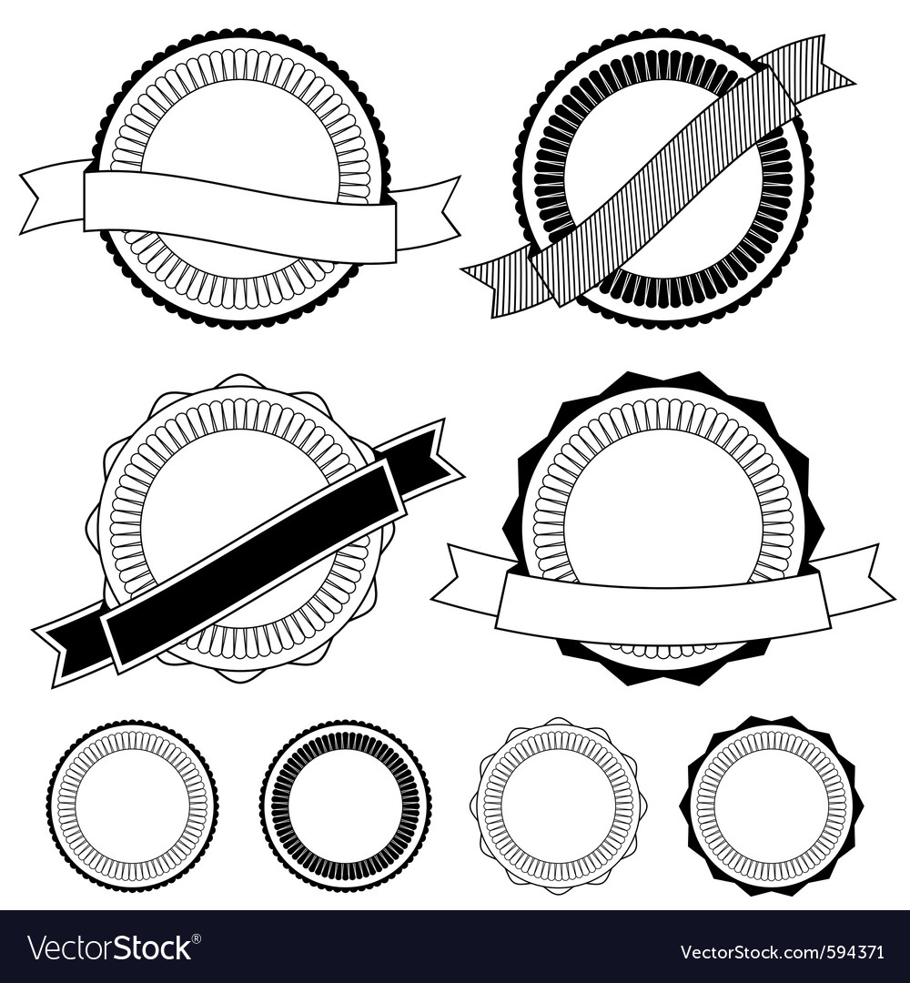 Badge decorations vector | Price: 1 Credit (USD $1)