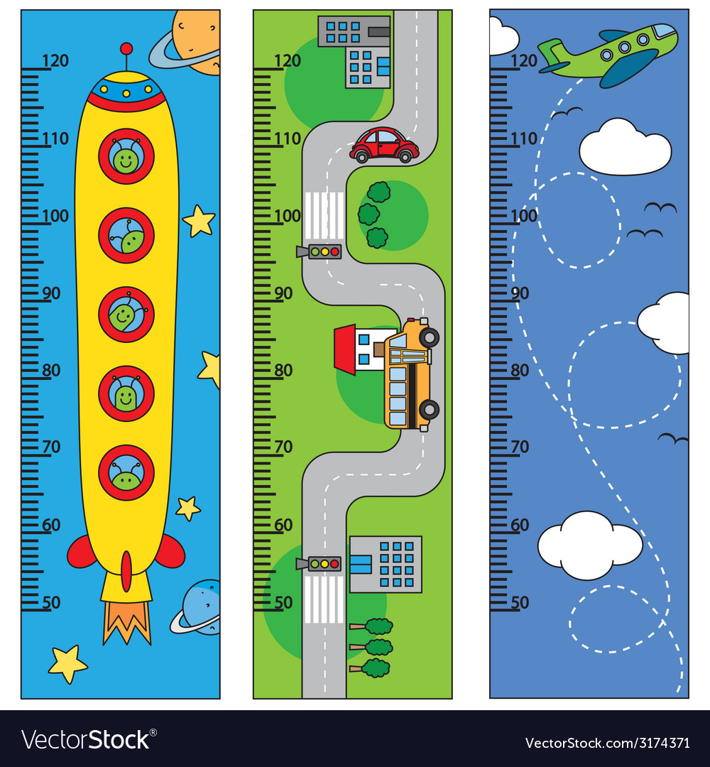 Bumper children meter wall vector