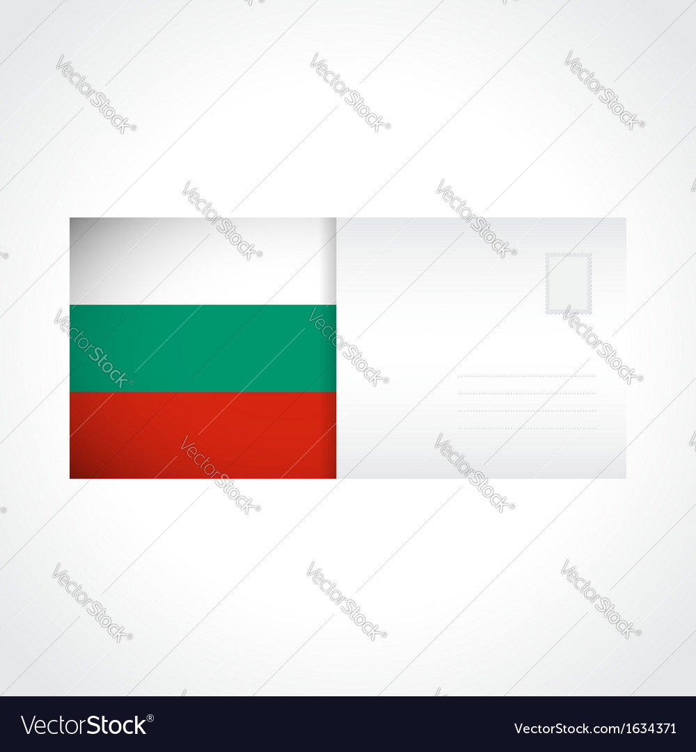 Envelope with bulgarian flag card vector | Price: 1 Credit (USD $1)