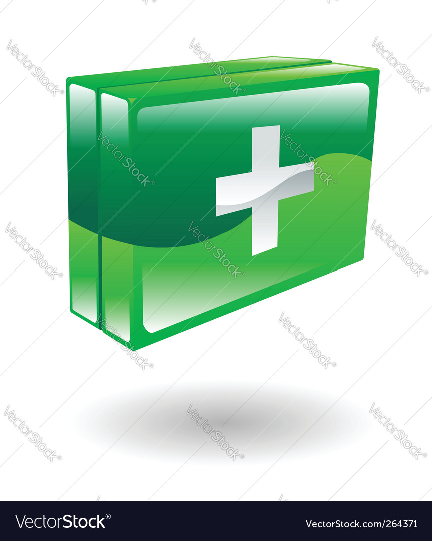First aid kit illustration vector | Price: 1 Credit (USD $1)