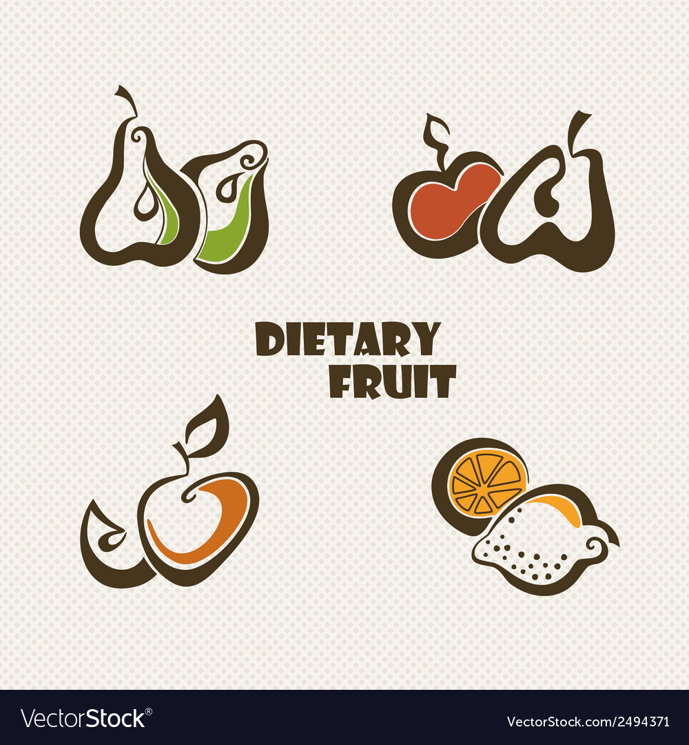 Fruit set vector | Price: 1 Credit (USD $1)