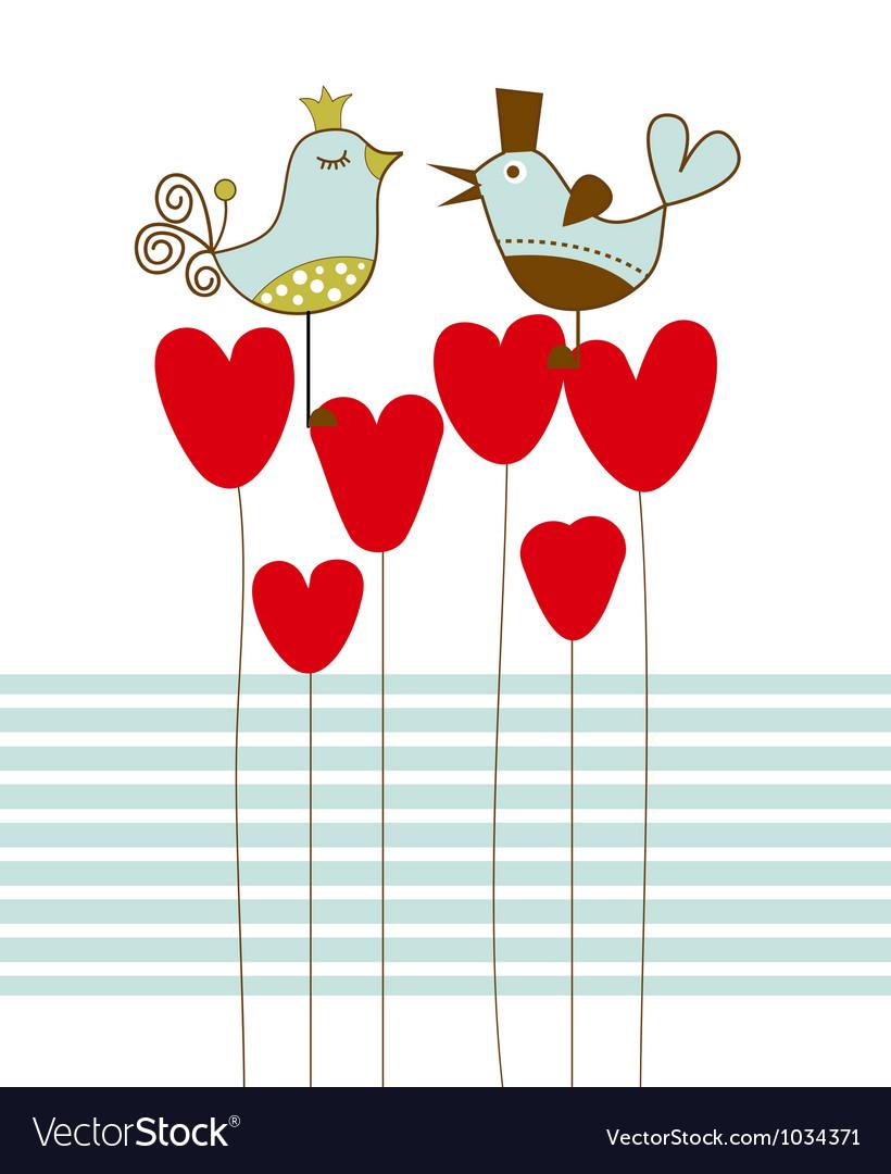 Love birds vector | Price: 1 Credit (USD $1)