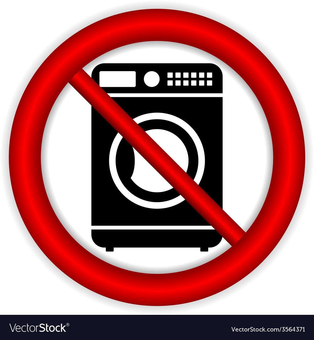No washing machine icon vector | Price: 1 Credit (USD $1)