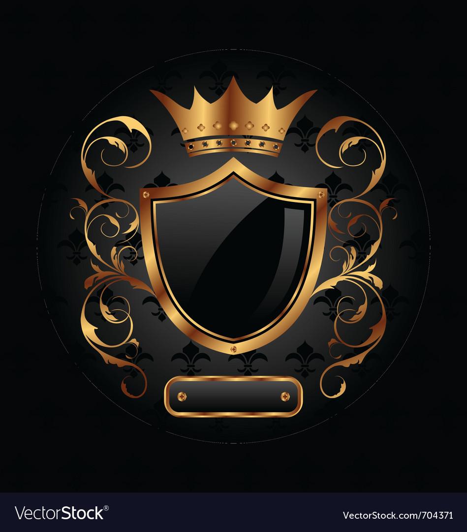 Ornate heraldic shield vector | Price: 1 Credit (USD $1)