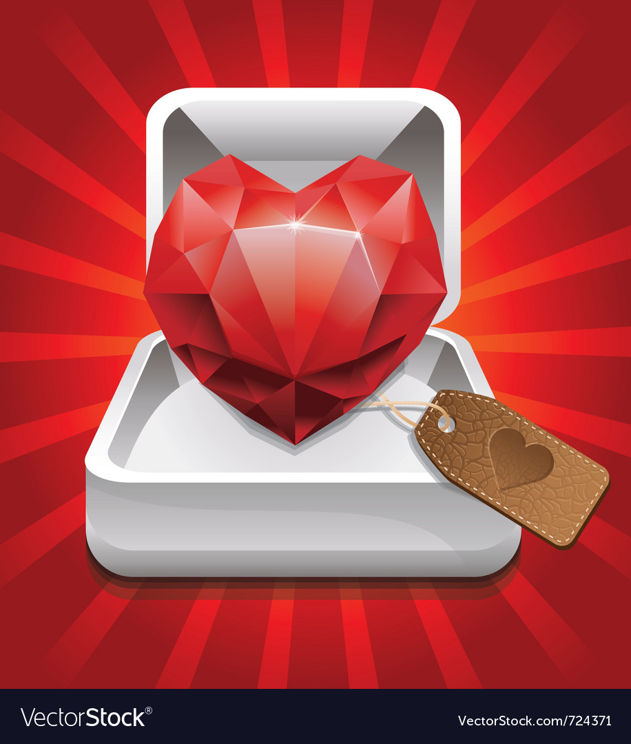 Ruby in a box vector | Price: 1 Credit (USD $1)