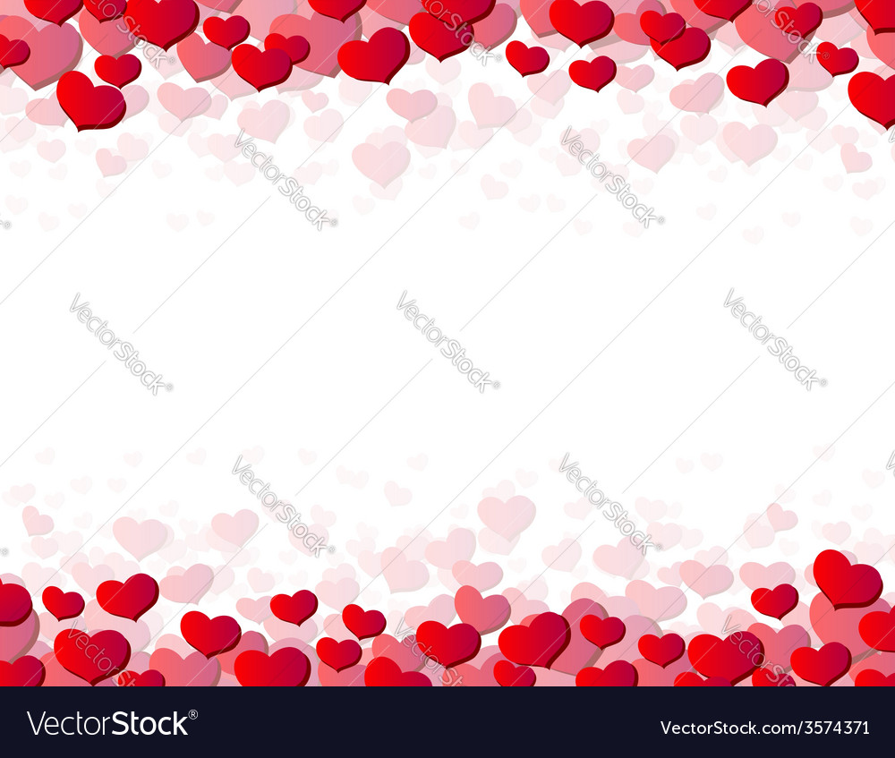 Valentines day card with scattered hearts vector | Price: 1 Credit (USD $1)
