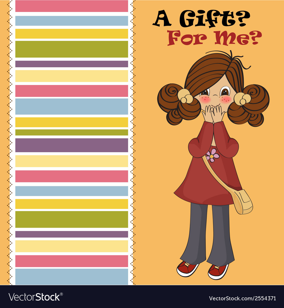 Young girl surprised vector | Price: 1 Credit (USD $1)