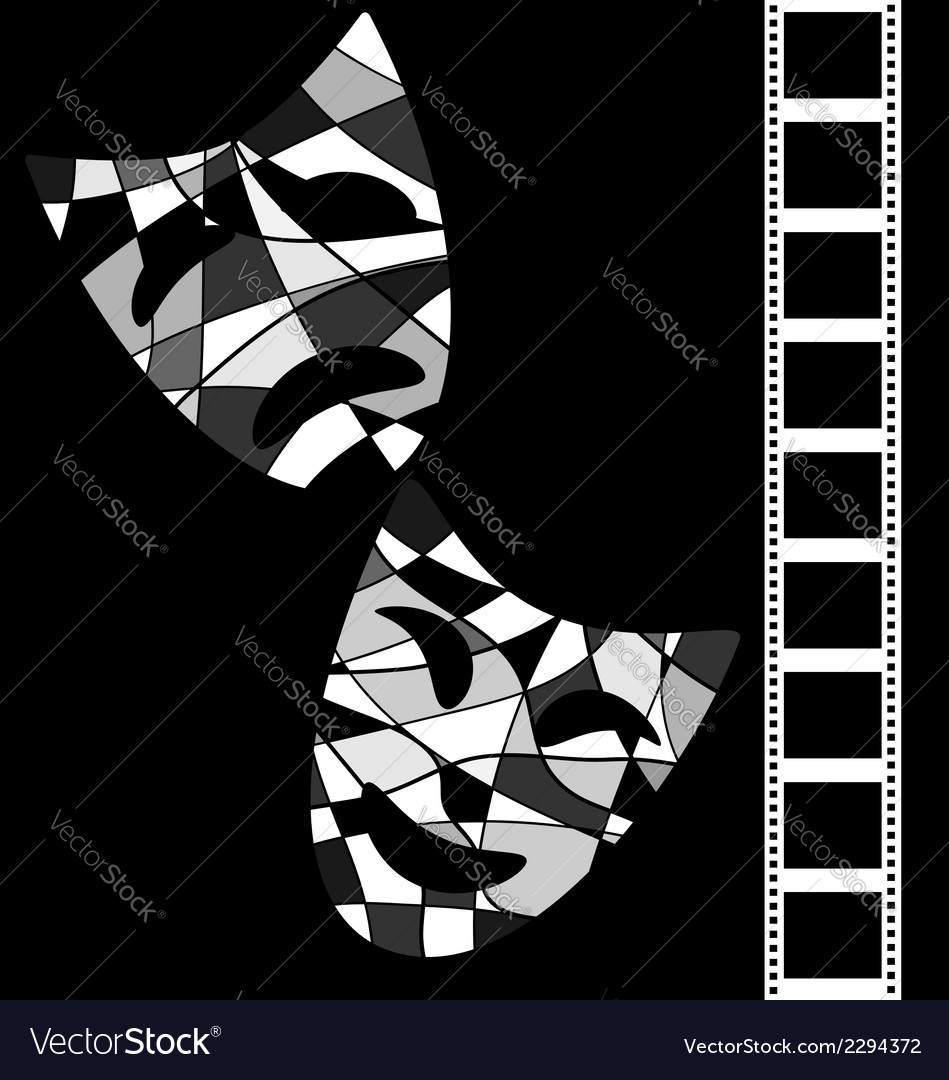 Black white background cinema vector | Price: 1 Credit (USD $1)
