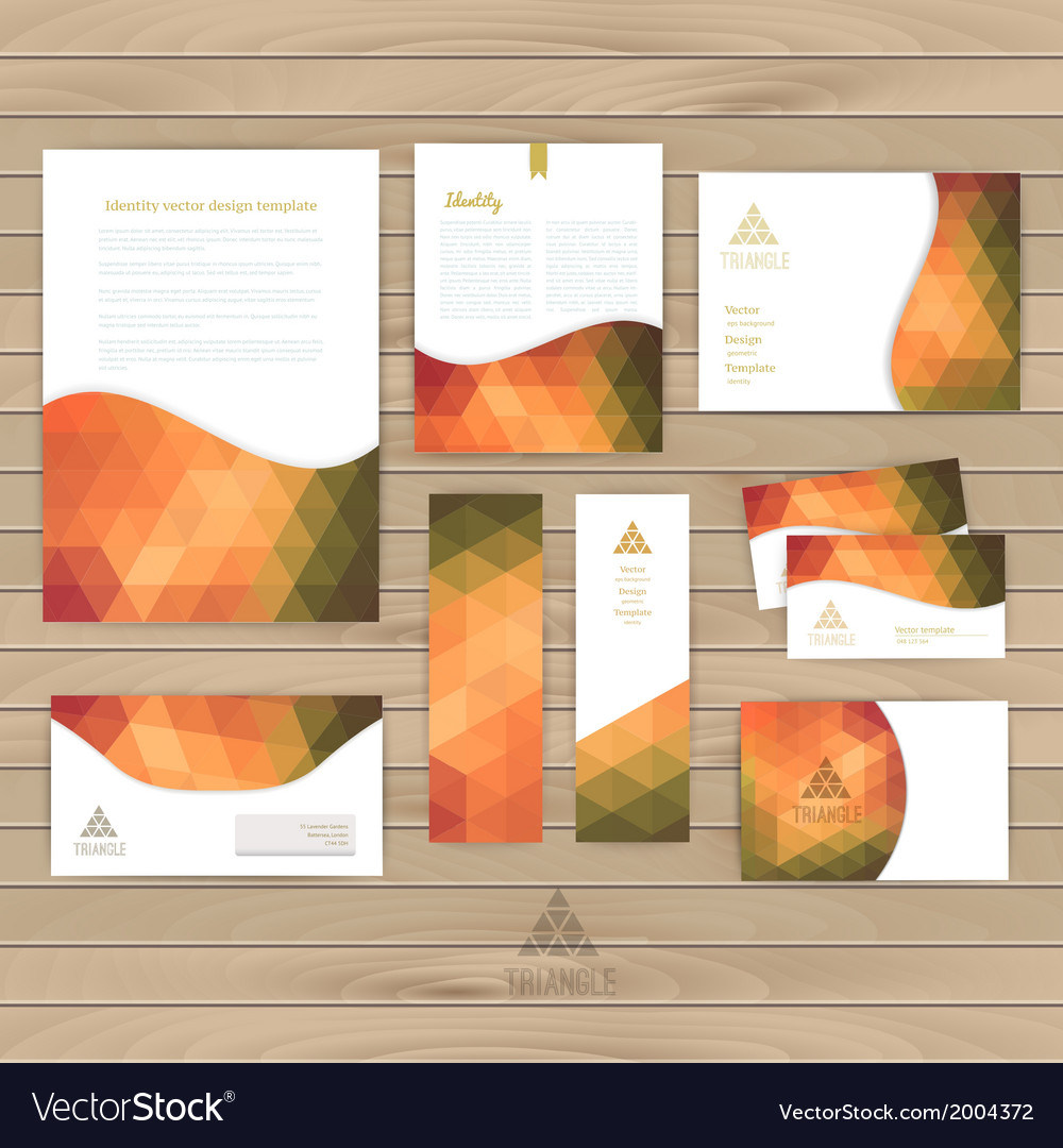 Corporate identity wave pattern abstract vector | Price: 1 Credit (USD $1)
