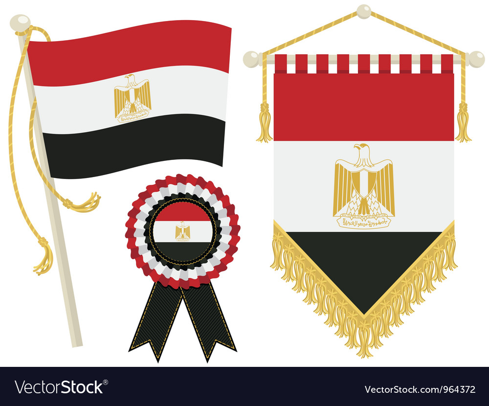 Egypt flags vector | Price: 1 Credit (USD $1)