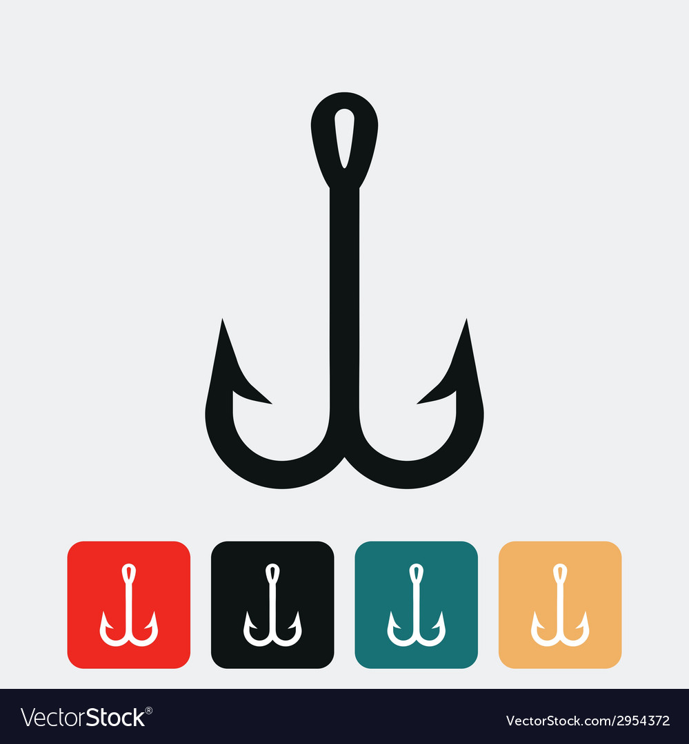Fish hook icon vector | Price: 1 Credit (USD $1)