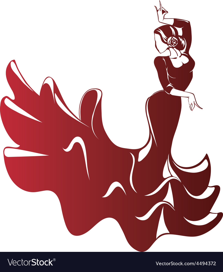 Flamenco silhouettes vector | Price: 1 Credit (USD $1)