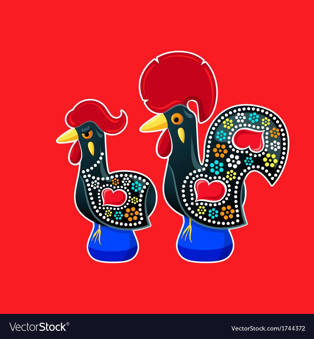 Galo and galinha de barcelos vector | Price: 1 Credit (USD $1)