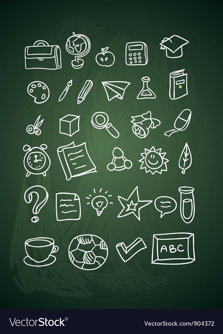 Hand drawn school doodles vector | Price: 1 Credit (USD $1)
