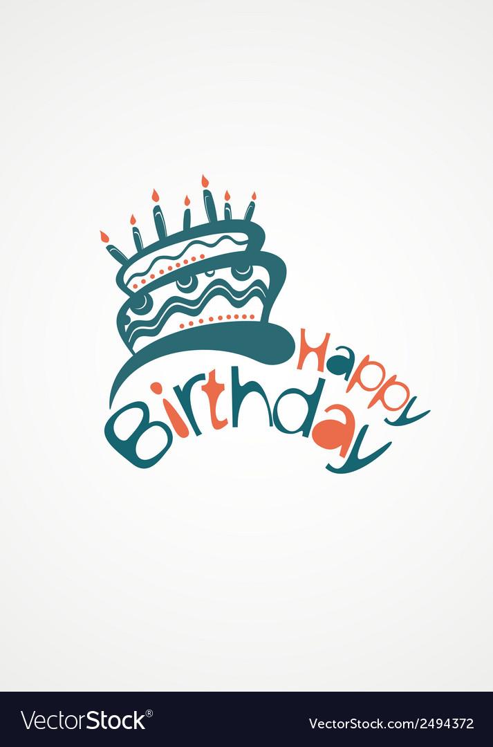 Happy birthday cake vector | Price: 1 Credit (USD $1)