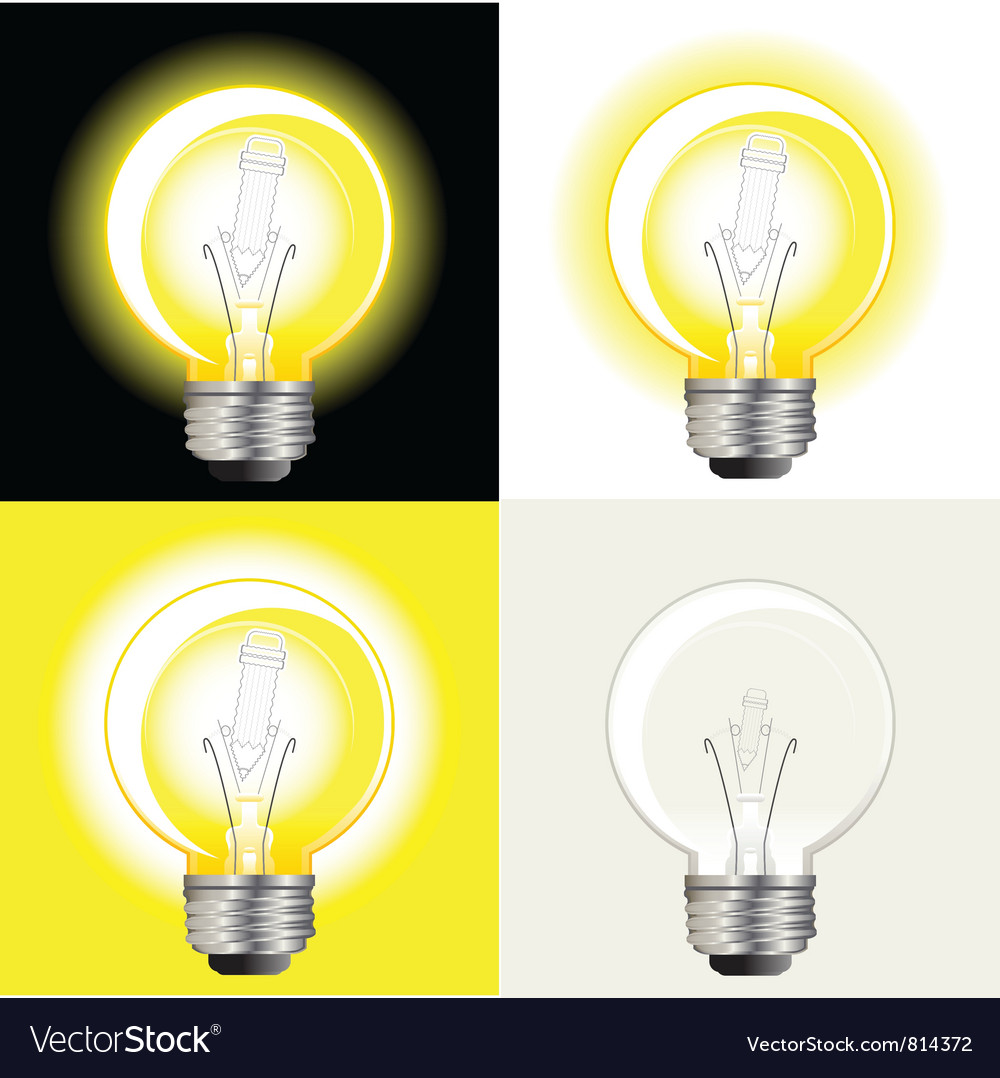 Light bulb inspiration vector | Price: 3 Credit (USD $3)