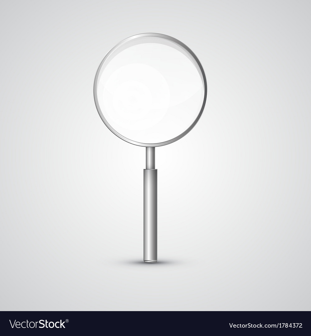 Magnifying glass isolated on grey background vector | Price: 1 Credit (USD $1)