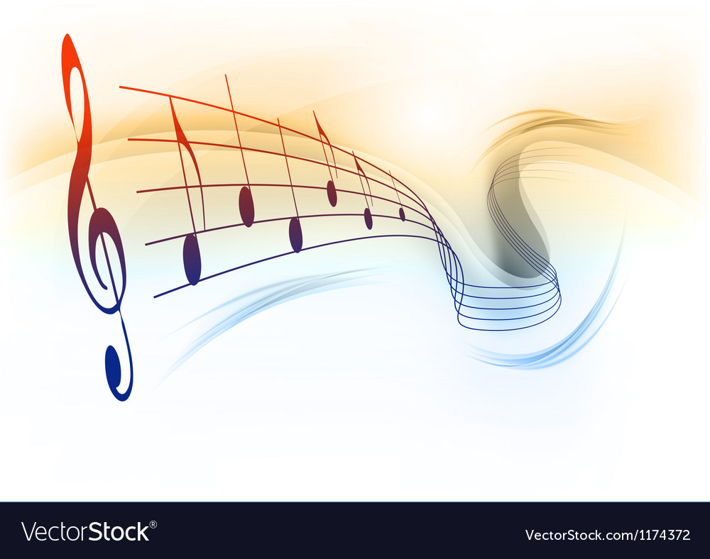 Music note background white vector | Price: 1 Credit (USD $1)
