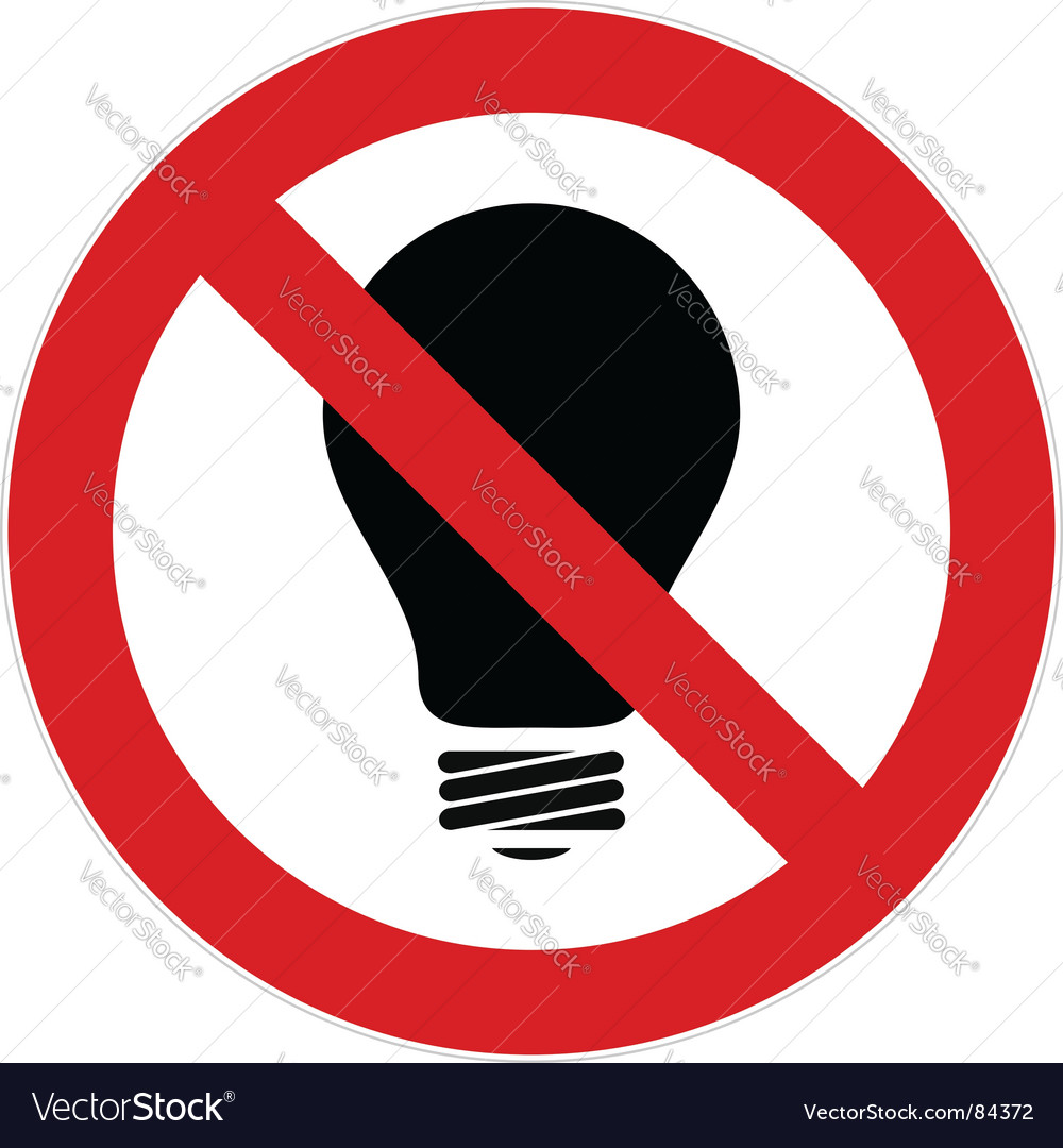 No light bulb sign vector | Price: 1 Credit (USD $1)