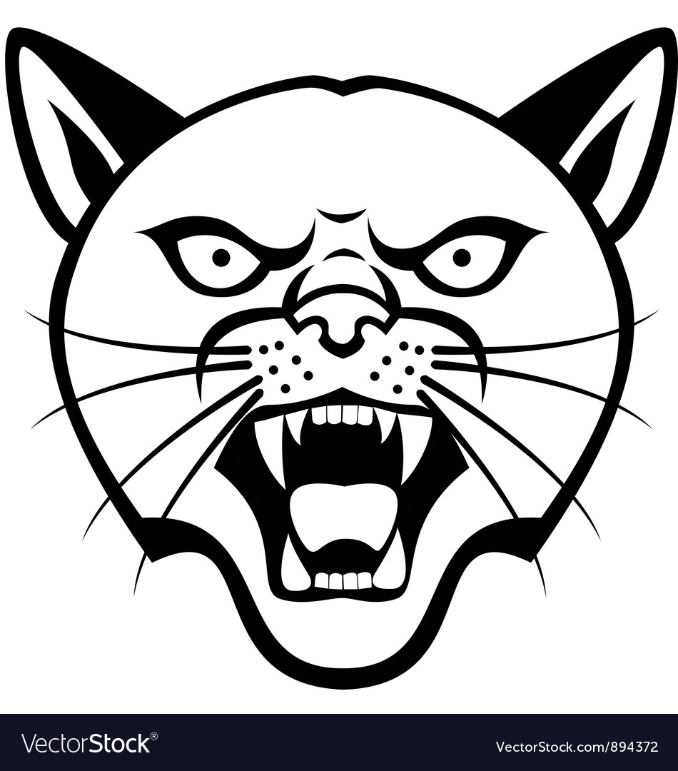 Panther head tattoo vector | Price: 1 Credit (USD $1)