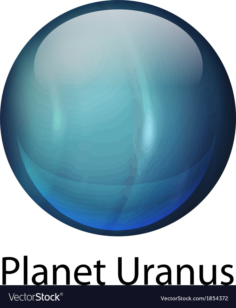 Planet uranus vector | Price: 1 Credit (USD $1)