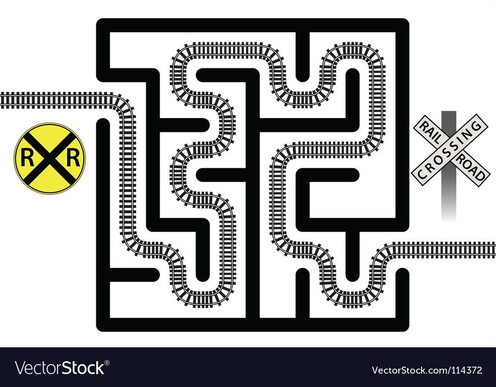 Railroad maze vector | Price: 1 Credit (USD $1)