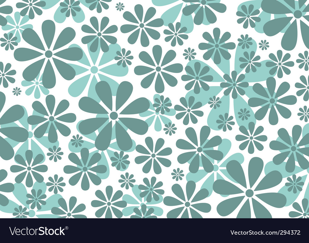 Retro daisy pattern vector | Price: 1 Credit (USD $1)