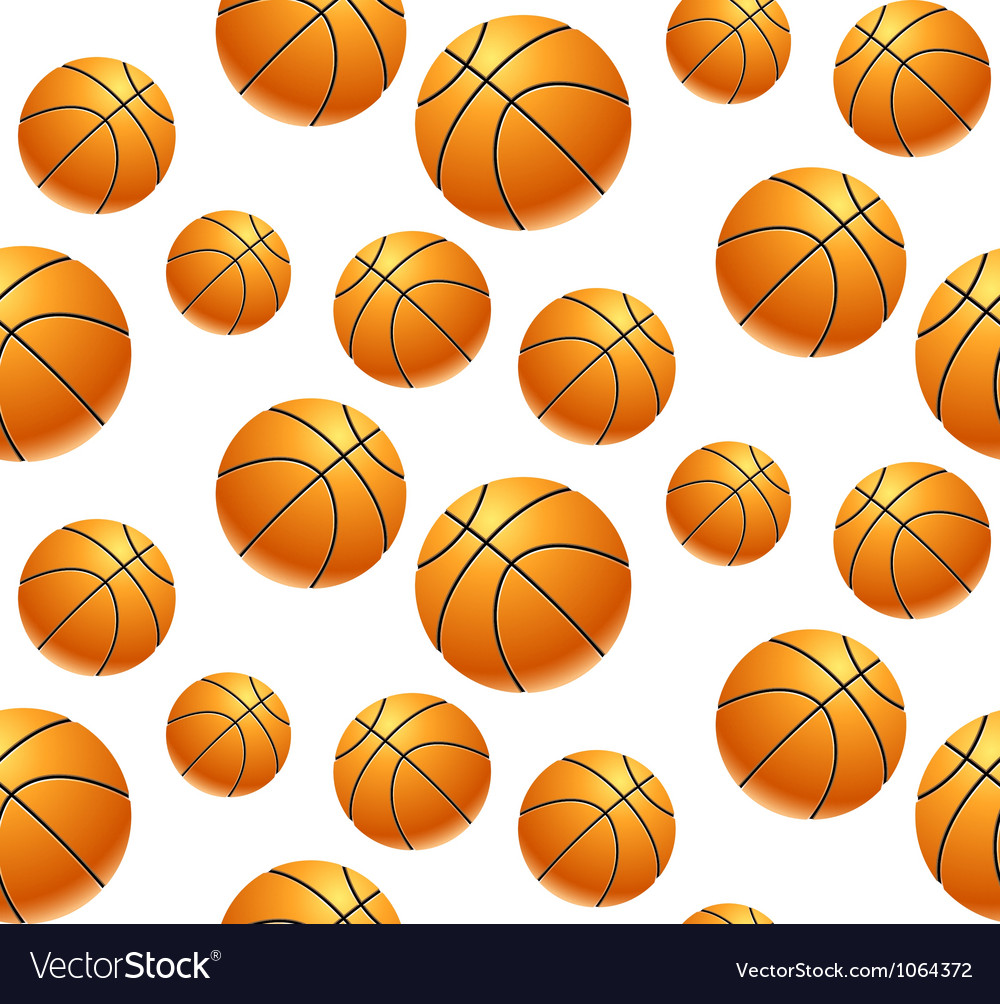 Seamless pattern with basketball vector | Price: 1 Credit (USD $1)