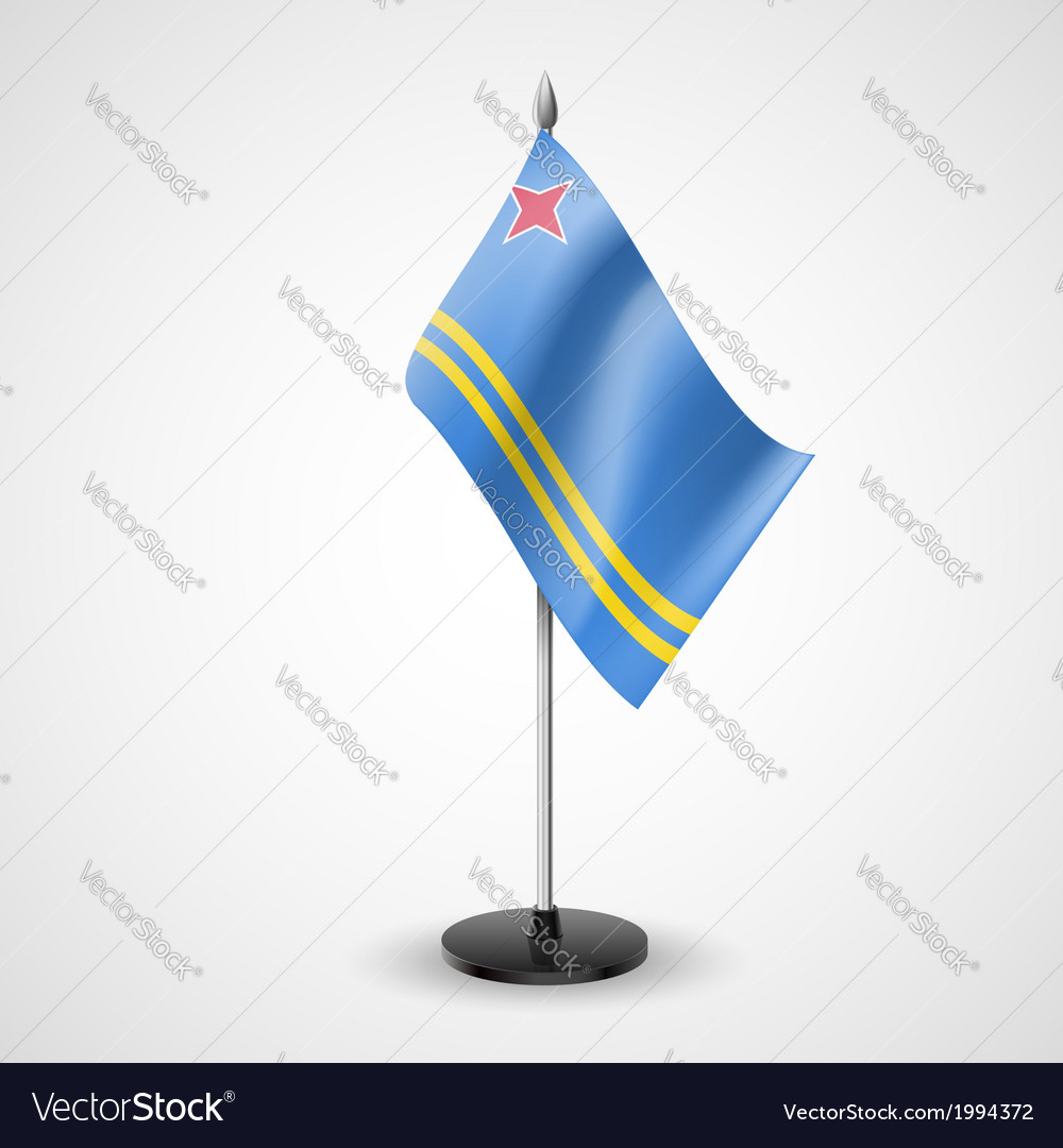 Table flag of aruba vector | Price: 1 Credit (USD $1)