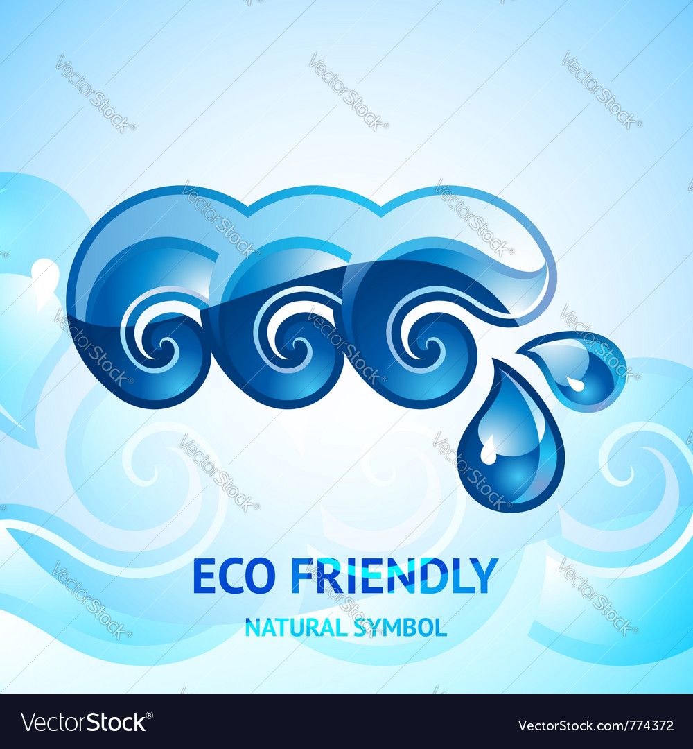 Water natural sign vector | Price: 1 Credit (USD $1)
