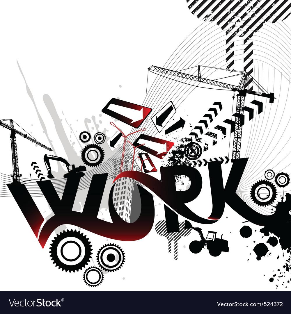 Work logo vector | Price: 1 Credit (USD $1)