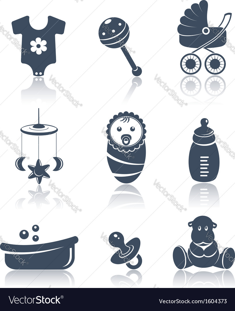 Baby icons vector | Price:  Credit (USD $)