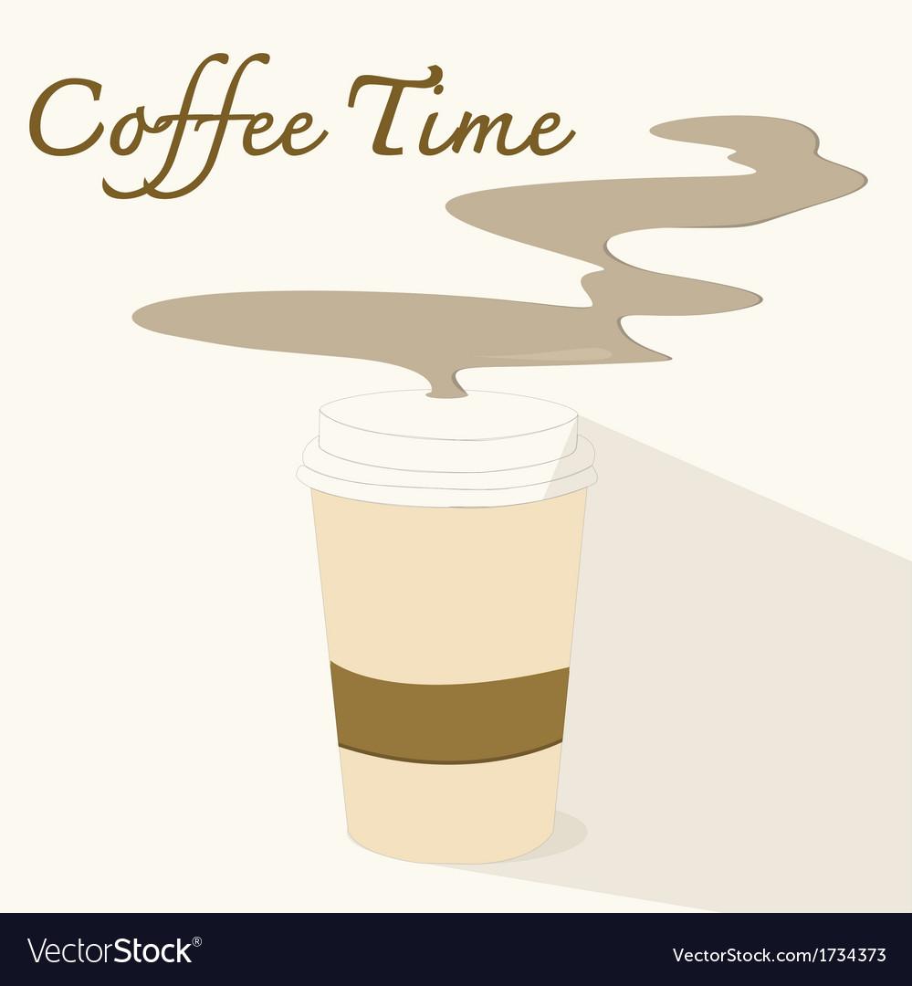 Coffee timeflat icon vector | Price: 1 Credit (USD $1)
